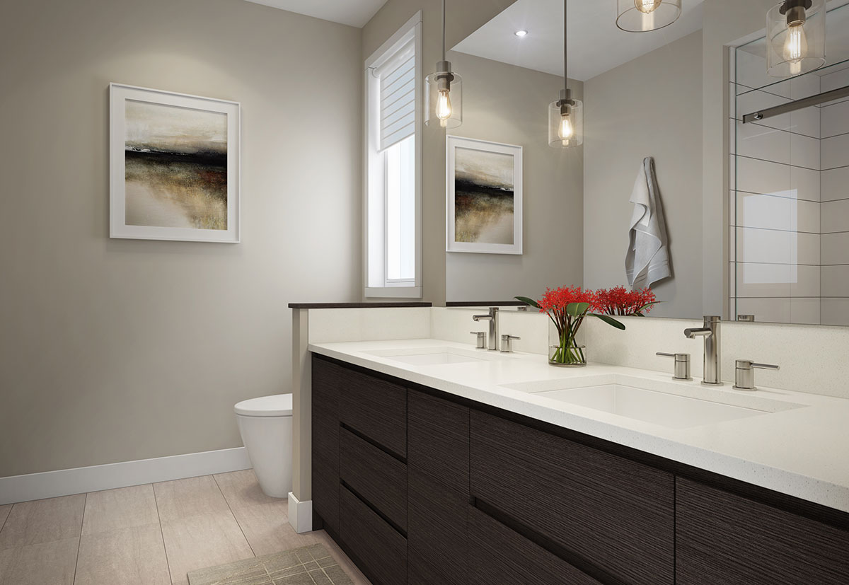 Townhome 1A Ensuite Rendering at The Dale Trailside Commons