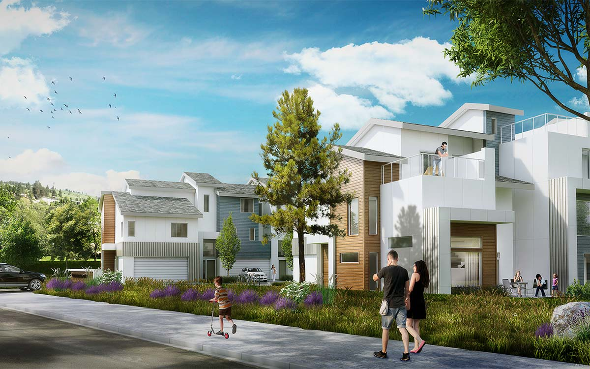 The Dale Trailside Commons exterior rendering
